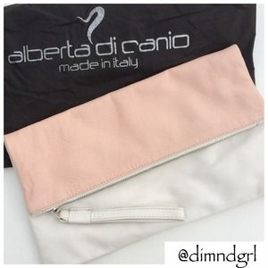 ♦️HP✨ALBERTA DI CANIO LEATHER FOLD OVER CLUTCH