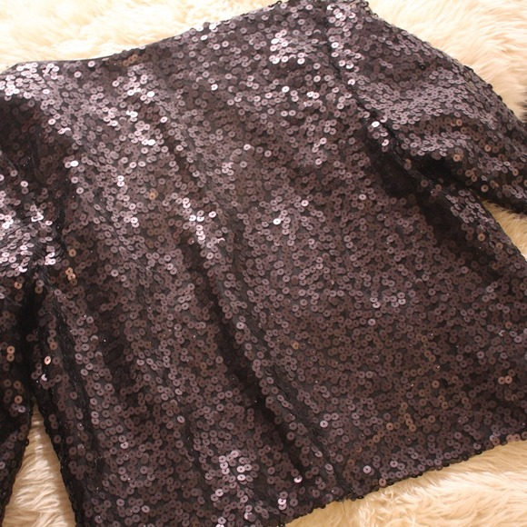 Black Sequin Jacket Forever 21 ✨forever 21✨black Sequin