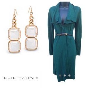 HOST PICK Elie Tahari Green Zip Belted Dress