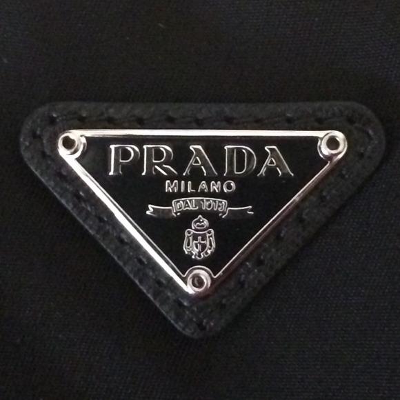 prada handbags black and white - 51% off Prada Clutches \u0026amp; Wallets - NWT PRADA Black Nylon Wristlet ...