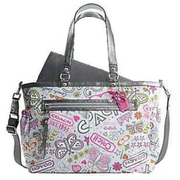 coach bags graffiti poppy diaper bag poshmark rh poshmark com
