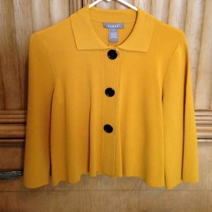 Kenar Sweaters - ‼️😄HOST PICK😄‼️ Yellow 3/4 sleeve boxy cardigan
