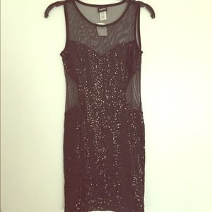 Frederick's of Hollywood mesh and sequin dress