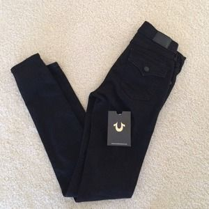 Black Halle true religion jeans size 25, skinny