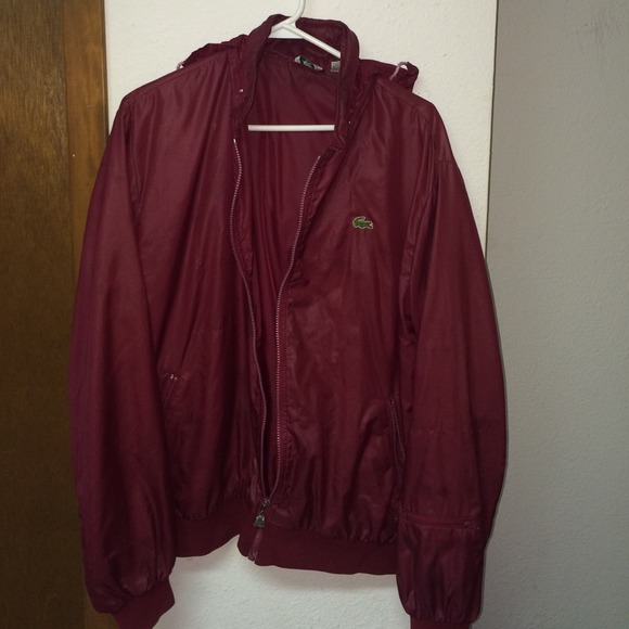 cd943bb80518 Lacoste Jackets   Blazers - Maroon Antique Lacoste windbreaker jacket