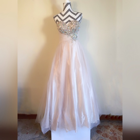 Jovani Dresses - Champagne Prom Dress