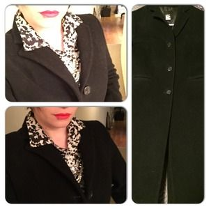 J. Crew wool/cashmere 80/20 blend long pea coat