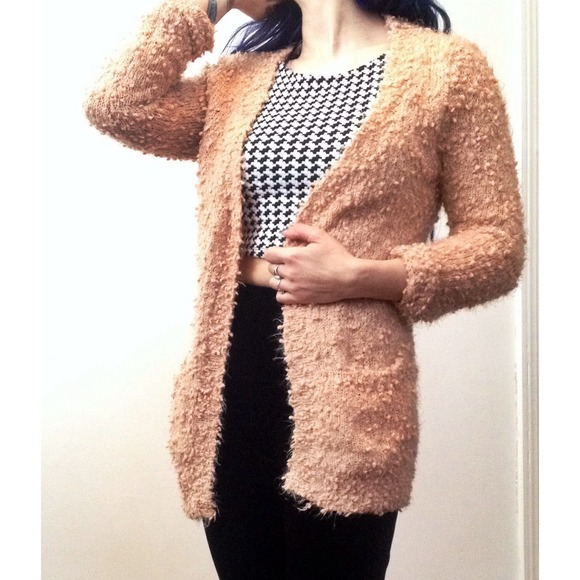 43% off Forever 21 Sweaters - Pastel pink fuzzy slouchy long soft ...