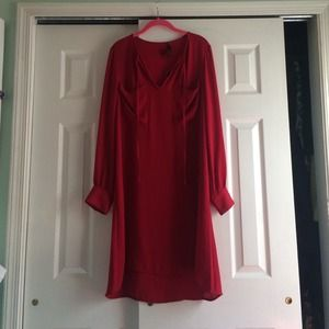 New BCBG high-low v- neck dress