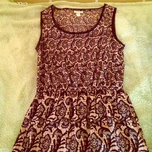 Rodarte for Target, Black and Tan floral dress