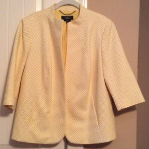 Talbots Jackets & Blazers - Yellow & White pattern jacket