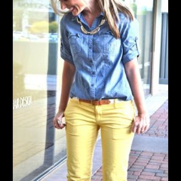 70% off GAP Pants - Yellow corduroy pants from Catherine's closet ...