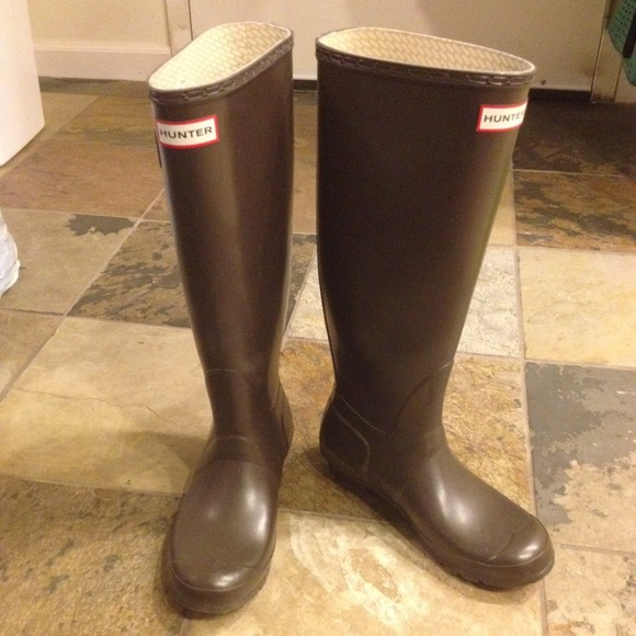 39% off Hunter Boots - Hunter Tall Rain Boots in chocolate brown ...