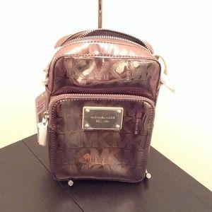 efda6afae5dd Michael Kors Not for Sale · 35S3MMWM1Z Signature w Webbing Flight Bag  Nickel. NWT
