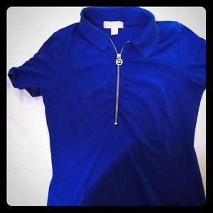 Michael kors 2 mk short sleeves tees from cheaper on for Cobalt blue polo shirt