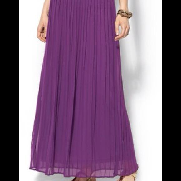 72% off Sabine Dresses & Skirts - Maroon pleated chiffon maxi ...