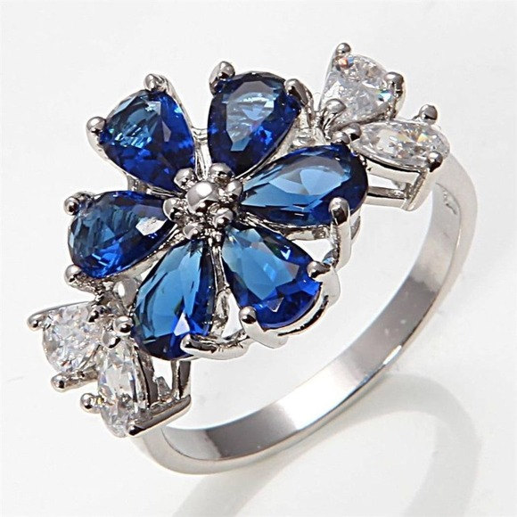 10k white gold filled sapphire ring 7 5 from bejeweled s