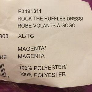 Avon Dresses - PURPLE RUFFLE FRONT DRESS