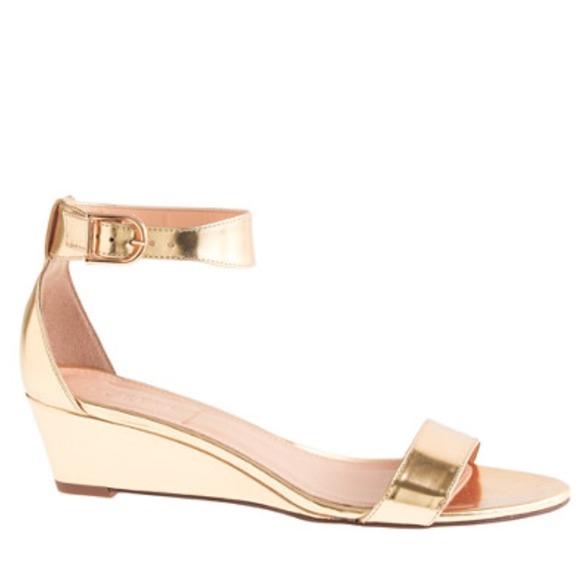 e318081b385 J. Crew Shoes - J.Crew gold Lillian wedge sandal