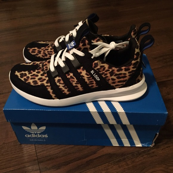 Model Womens Adidas Originals Zx Flux Running Shoes Leopard Price