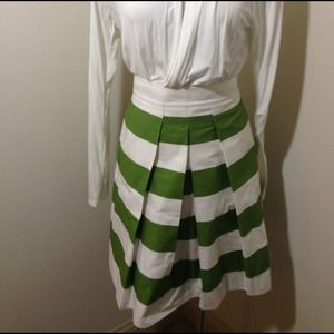 sandee royal Dresses & Skirts - Striped pleated full skirt very Kate Spade