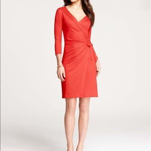Ann Taylor red wrap dress brand new!