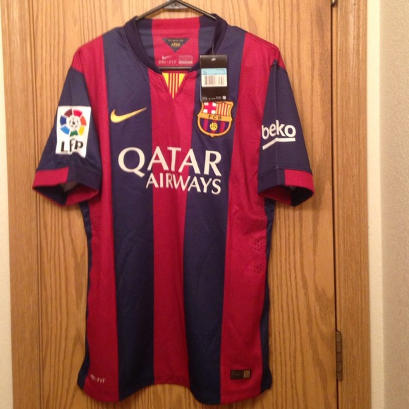 sale retailer 0f2e9 fc398 Soccer jersey BARCELONA home 2014-2015 #10 messi NWT