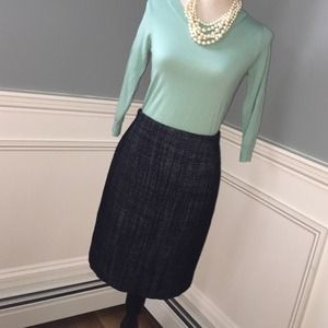 Ann Taylor tweed wool skirt