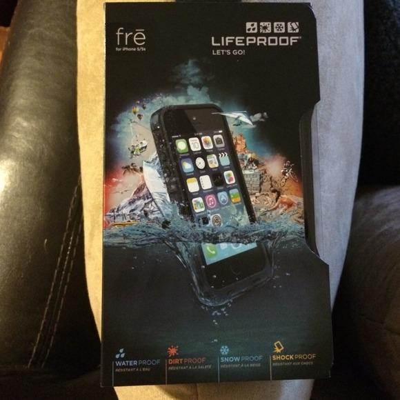 buy online 0087a 9a1b0 NIB new lifeproof fre phone case iphone 5 5s black NWT