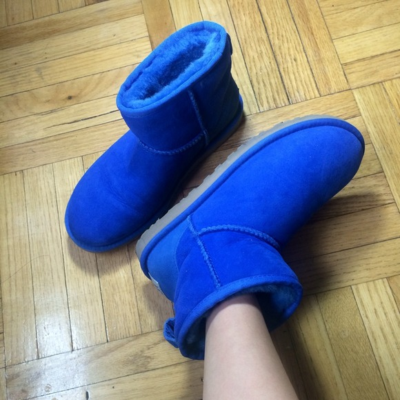 UGG Classic Mini Royal Blue Ankle Boots