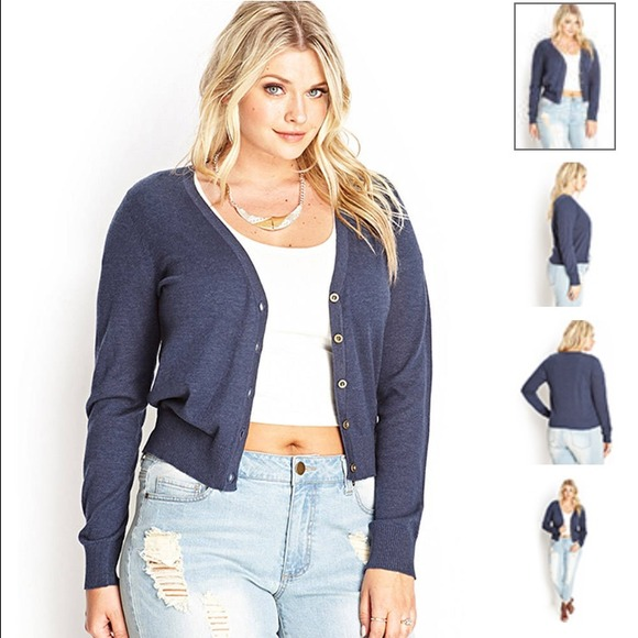 NEW Forever 21 Plus Size Fitted V Neck Cardigans 9b3ee9617