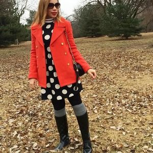 Dresses & Skirts - Black Polka dot Dress