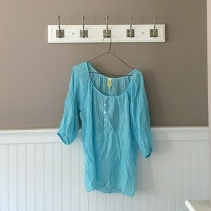  FRANCESCA'S COLLECTIONS  Teal Blouse