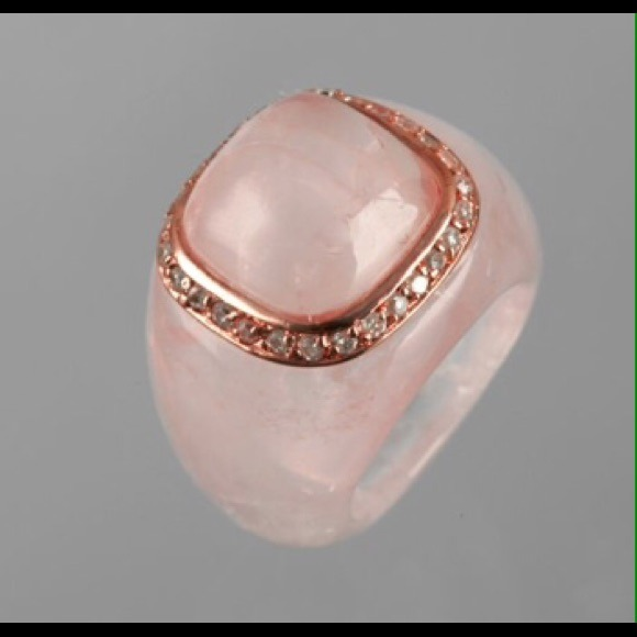 9 off jardin jewelry rose quartz cz ring from kathy 39 s for Jardin jewelry