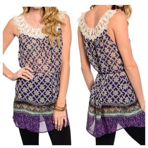 Tops - ❗️Sale❗️Jenna Floral Lace Top