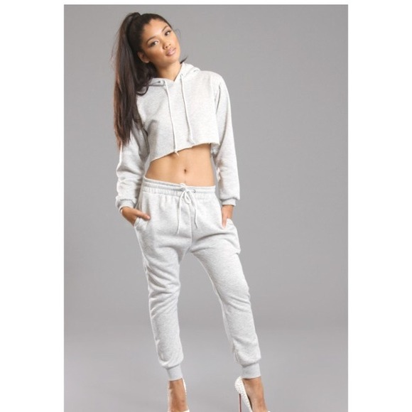 59% off American Apparel Outerwear - White cropped hoodie ...
