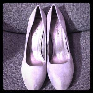 Wild Diva brand new steel grey, steel heel pumps.