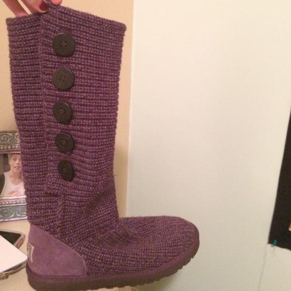 Purple Knit Uggs