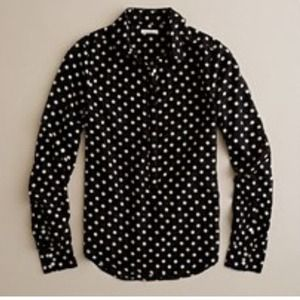 BUNDLED Jcrew Polka Dot Popover M