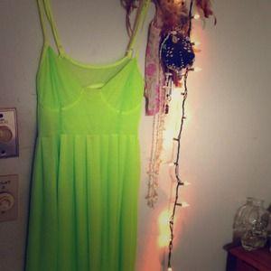 nameless Green Dress