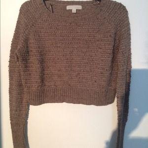 Cropped tan sweater