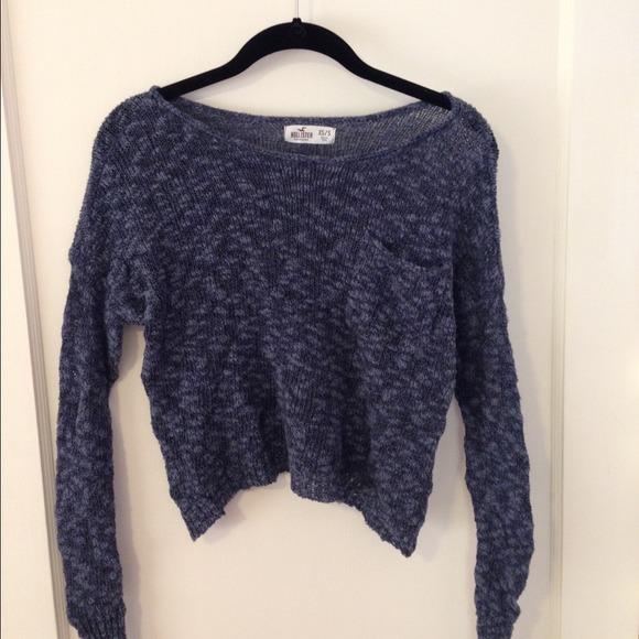 cf07308385c Hollister knit sweater in blue