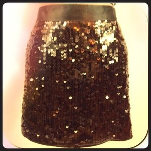 Express black sequin mini skirt size 10