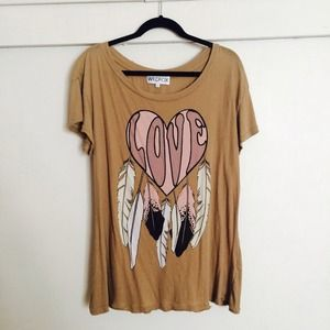 Wildfox Couture Distressed Dreamcatcher Love Tee