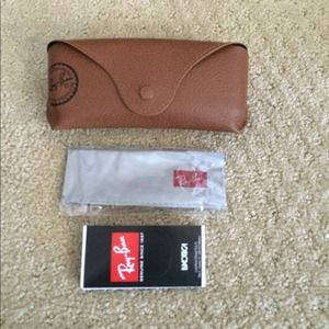 Authentic tan Ray-Ban sunglass case