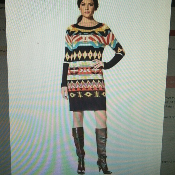 489493084b Jessica Simpson Dresses   Skirts - Jessica Simpson Aztec Sweater Dress