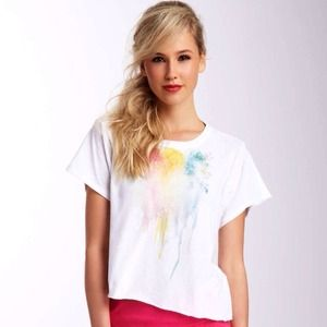 NWT Wildfox White Label Roses top
