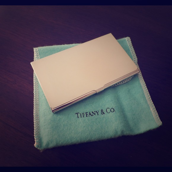 Tiffany co accessories tiffany co silverplate business card tiffany co silverplate business card holder reheart Images