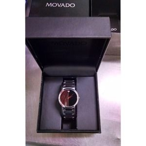 MOVADO STAINLESS STEEL MODEL # 0605903 RETAIL $995