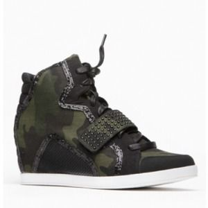 Bamboo Camo Sneaker Wedges